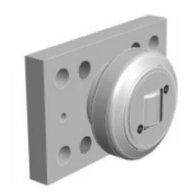 Combined Bearing welded to a flange plate