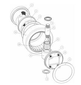 Drawing of a combined bearing configuration