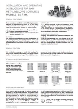 Installation Instructions BK, BKL & MK Couplings