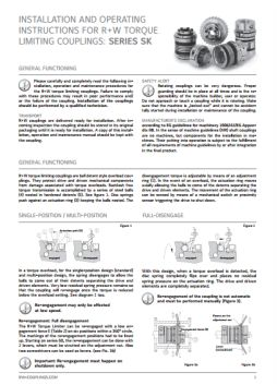 Installation Instructions Series SK Torque Limiter