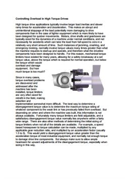 Installation Instructions Series ST High Torque Limiter