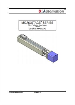 Microstage User Manual USM28