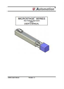 Microstage User Manual USM42