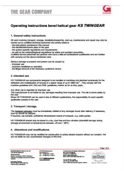 Operating Instructions KS Twingear