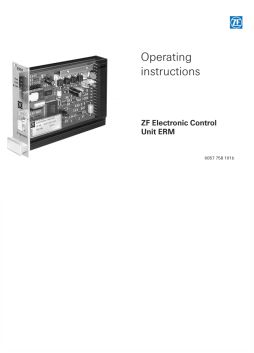 Operating Instructons - ERM control Unit
