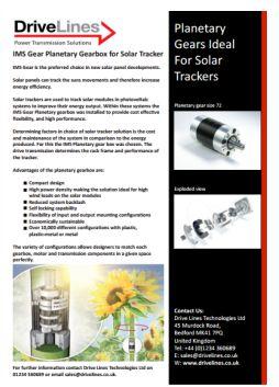 IMS Gear Planetary Gearheads, Baseline, techline, SDline