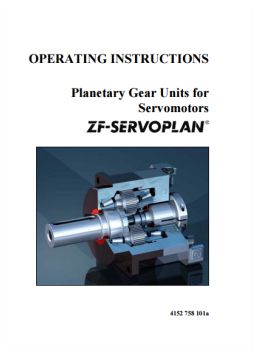 ZF Servoplan planetary gear unit operating instructions